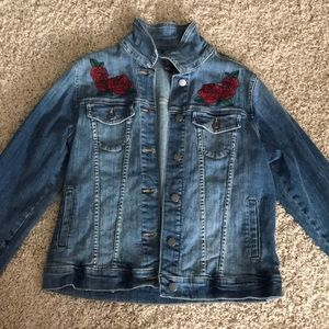 Beauty and the beast jean jacket